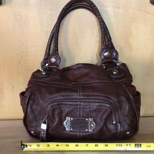 B. Makowsky Croco embossed leather bag like new